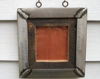 Industrial Rustic Mini Picture Frame