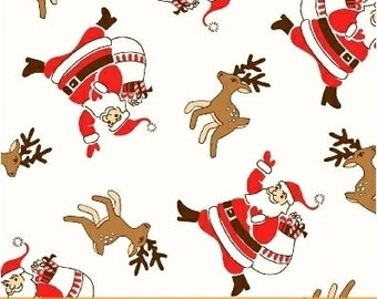 Storybook Christmas White Santa Claus 41750-1 by Whistler Studios for Windham Fabrics