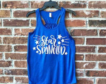 4th of July Tank, Star Spangled, Star Spangled Tank,  Merica Tank, July 4th, July 4th outfit, Fourth of July, July 4th Tank,