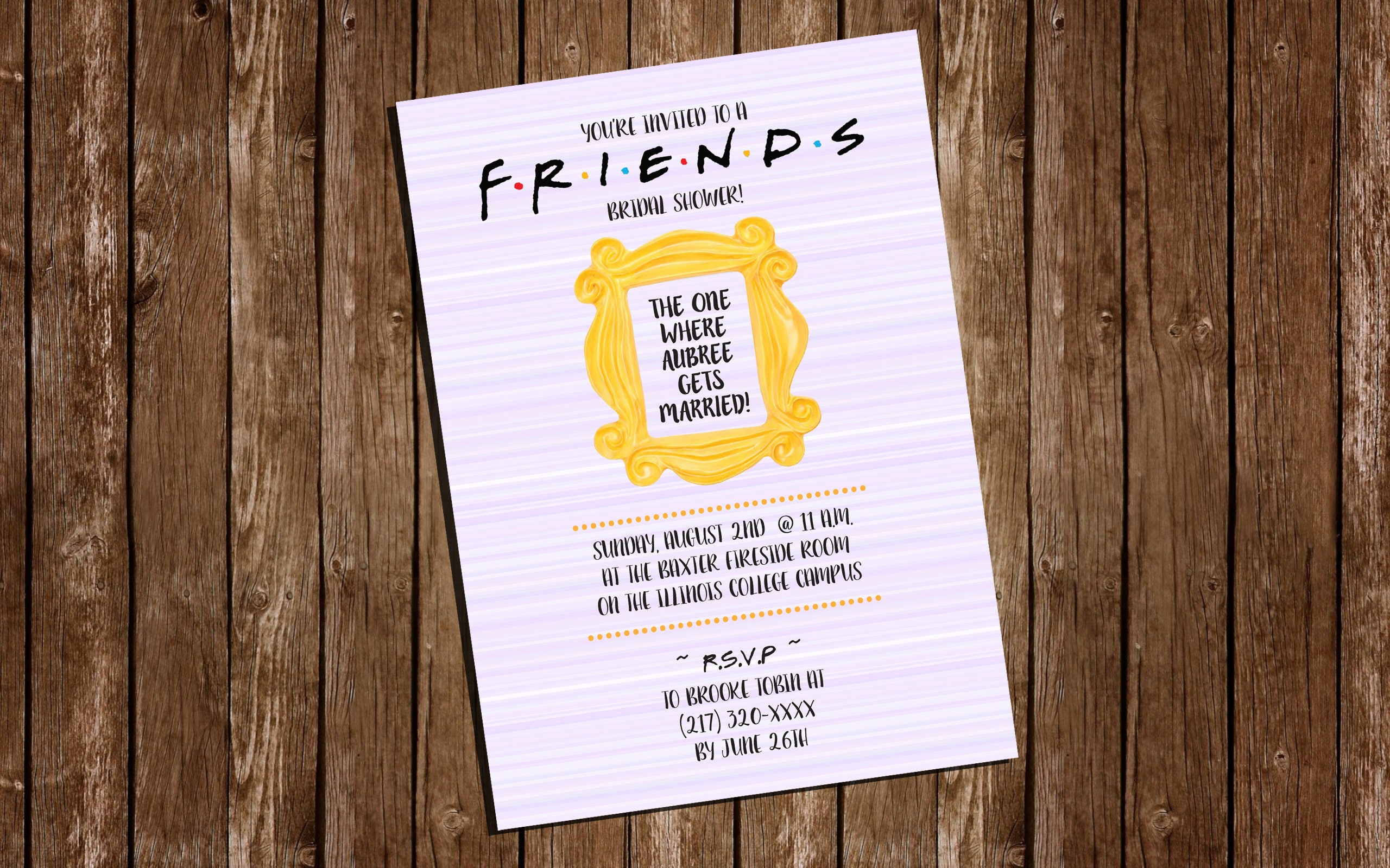 Printable friends bridal shower invitation 4 x 6 zoom filmwisefo Choice Image