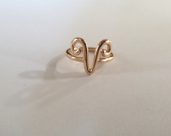 Zodiac Ring- Silver Aries Ring- Zodiac Aries Ring- Astrology Jewelry- Horoscope Ring- Aries Ring- Astrological sign ring