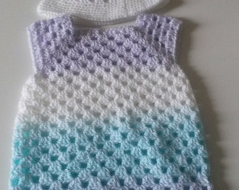 dress and hat, preature made hand (thing to make them in other sizes and/or color)