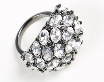 Kenneth Jay Lane Ring with Swarovski Crystals