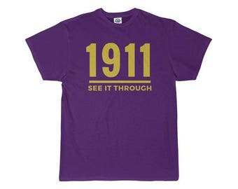 Omega Psi Phi Fraternity See It Through Men's T-Shirt - Purple