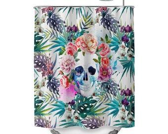 Tropicalavera Skull Shower Curtain