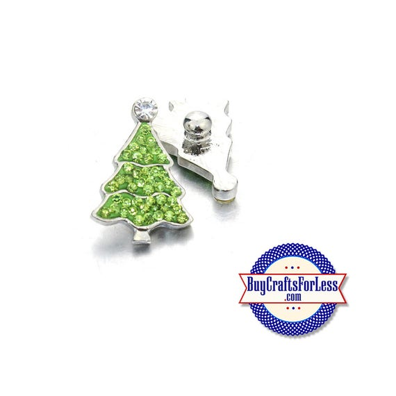 SALE! SNaP CHRiSTMAS TREE BUTTONs, 18mm INTERCHaNGABLE Button, 4 NeW Styles +FREE Shipping & Discounts
