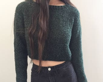 Knit Cropped Sweater || US sizes S, M, L || Valencia Cropped Sweater