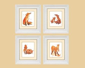 Watercolor FOX Prints,  fox, fox art,