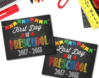 First Day Of School Sign, First And Last Day Of School Signs, 1st Day Of School Sign, Last Day Of School Sign, DIY Printable