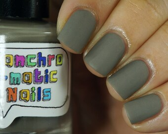 A Shortcut to Mushrooms Nail Polish - matte earthy grey