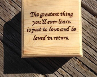 Moulin Rouge Quote Wooden Box