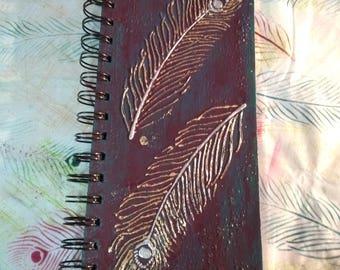 Mixed Media Feathers  Notebook / Mixed Media Book