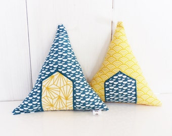 TIPIS yellow and blue duck, fabric, to ask