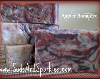 Amber Romance - Rustic Suds Natural - Organic Goat Milk Triple Butter Soap Bar - 5-6oz. Each
