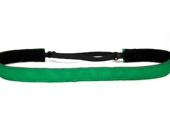 Adjustable Non-Slip Headband Green