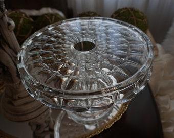 Vintage, Bundt Crystal Cake Stand