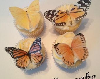 Rustic Shades of Orange Edible Butterflies