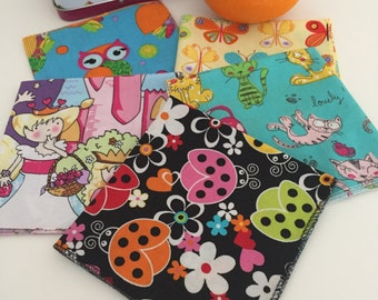 Girls Napkins, Napkins for Kids, Kids Cloth Napkins