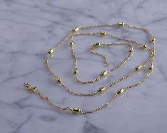 "18KT Multi Station Necklace (23"")"