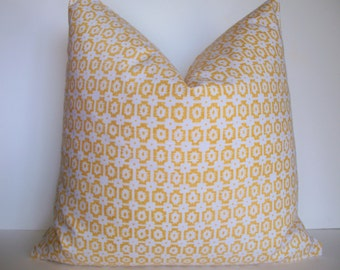 Yellow Pillow Cover Yellow Ikat Pillow Braemore Paloma Yellow Decorative Pillow Cover BOTH SIDES 0