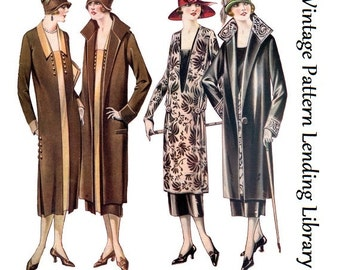 1925 Ladies Coat and Dress Ensemble - Reproduction Sewing Pattern #Z0551