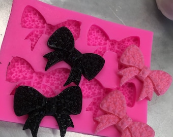 4 cavity bling bow silicon mold
