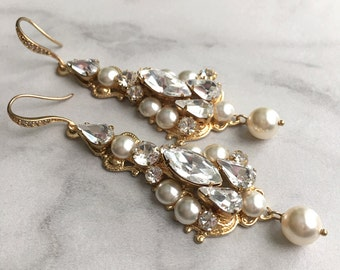 Wedding earrings chandelier