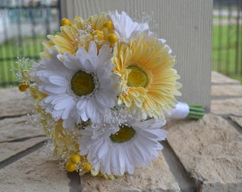 gerbera daisy bouquets for weddings bridal bouquet etsy 4471