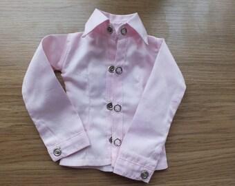 Sale! Handmade BJD MSD light pink cotton shirt