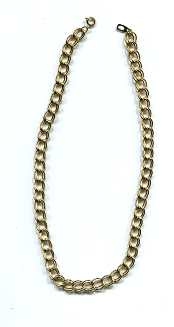 gold chain necklace unisex necklace jewelry 10mm double link curb chains jewelry findings