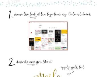 Typographic Logo Design Text Logo Website Logo Blog Logo Watercolor Vintage Hand Writing Logo Script Text Overlay Minimalist Logo Design