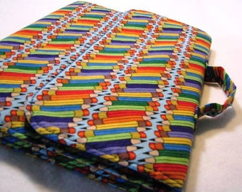 Notebook Cover w/zipper pouch & handle - Pencils