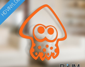 Splatoon Squid Vinyl Decal Sticker | Choice of Bright Colours or Black & White | Customise any surface!