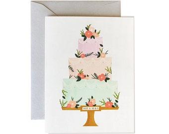 Wedding Card, Card Wedding, Cards Wedding, Bride, Groom, Wedding Cake, Wedding Greeting Card, Wedding Congrats, Gold, Floral, Wedding Cards