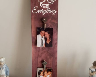 Family is the key photo holder/picture frame