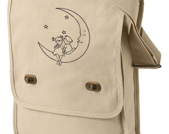 Sweet Dreams Embroidered Canvas Field Bag