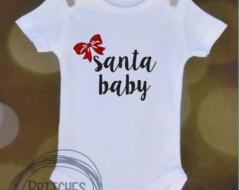 Santa Baby // Baby Apparel, Toddler Shirts, Trendy Baby Clothes, Cute Baby Clothes, Baby and Toddler Clothes