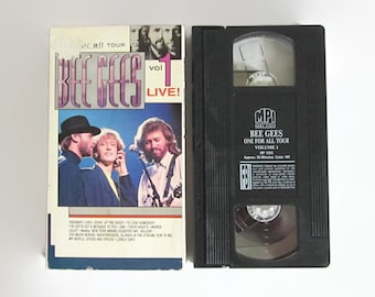 Vintage, Bee Gees, VHS, Volume 1, Live, One, For, All, Tour, Damaged, Box, Barry, Maurice, Robin, Gibb, MPI, 1990