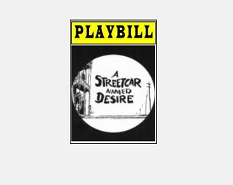 Theater / Show Charm - Playbill Play bill  - A Streetcar Named Desire
