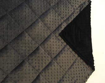 Weighted blanket Black/dark grey minky 35X40 & 40X60 charcoal child adult sleep calming