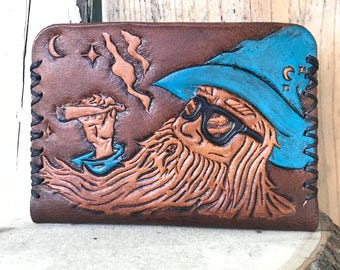 Wizard Wallet, Reefer Wallet, Slim Cardholder, Leather Accessories, Leather Wallet, Personalized Wallet, Leather Wallet