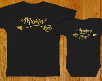 Mama / Mama's Mini - Matching Mother Daughter Shirts - Mama Mama's Mini Shirts - Matching Mama Baby Shirt - Mama's Mini Shirt - Matching Mom
