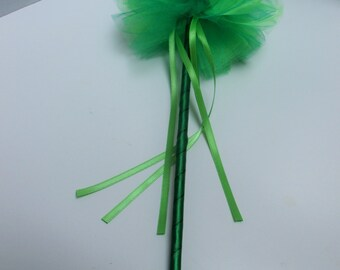 Green princess wand, fairy wand, pretend play