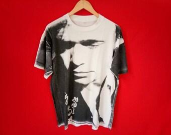 vintage John mellencamp fullprint 90's mens t shirt