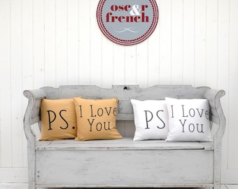 I Love You Pillow - Throw Pillow Sets - Cushion Cover - Yoga Pillow -  Quote Pillow - Linen Pillow Cover - Pillows with Sayings