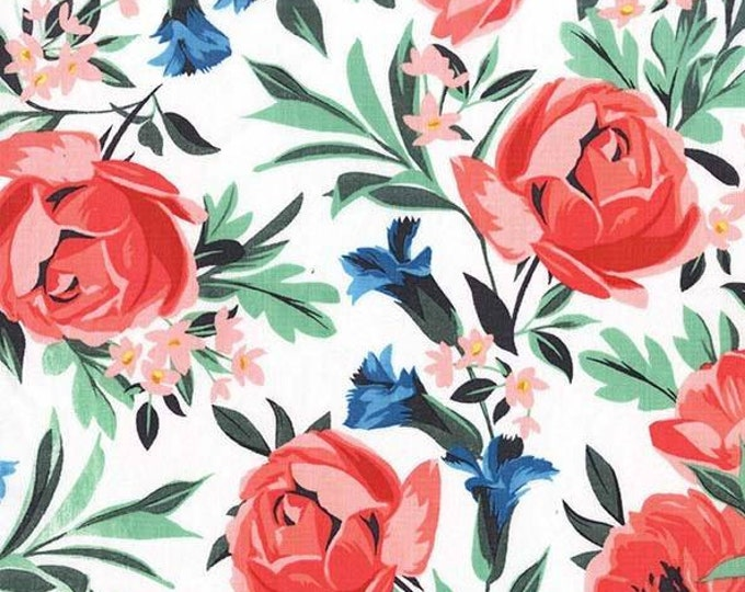 Michael Miller - Bed of Roses - Bed of Roses Coral - Cotton Woven Fabric