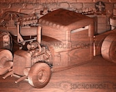 Ford Truck Hot Rod Wood C...