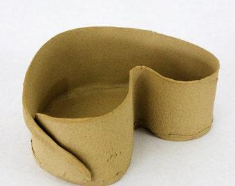 Planter // Medium Tan // Asymmetrical Planter // Ceramic planter for small plants