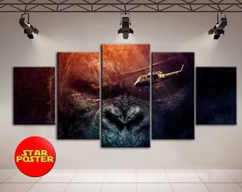 King Kong, Kong Skull Island, Canvas Print, King Kong canvas, Canvas Wall Art, King Kong Wall Art, Movie canvas, Print on canvas, Canvas Art