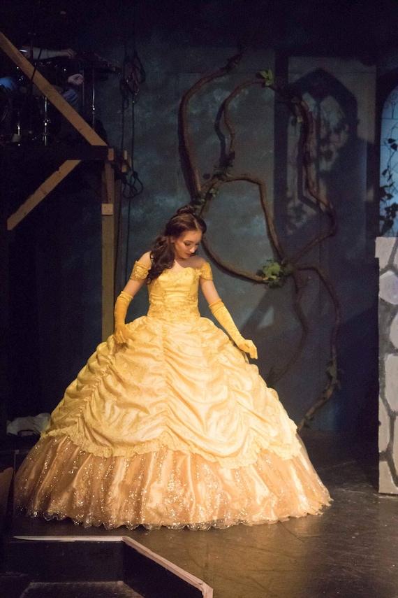 Belle Adult Disney Princess Belle ballgown Belle Dress